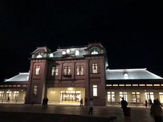 夜の門司港駅です。きれいになりました!