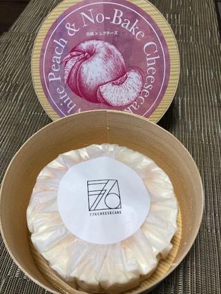 ハローデイで美味しそうなチーズケーキ発見!!「776CHEESECAKE」の「White Peach & No-Bake」