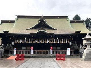 小倉城内の八坂神社で安全祈願を行いました